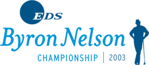 Eds Byron Nelson Championship logo in light and dark blue