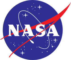 NASA logo in red and blue