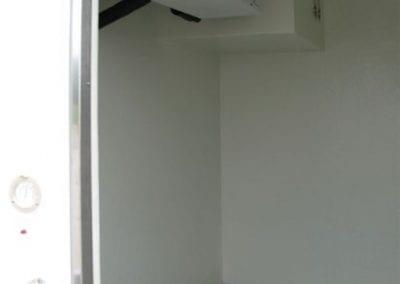 Close up of portable freezer unit for emergency refrigeration