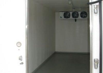 Portable freezer rental unit inside
