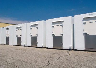 Five polar leasing walk-in freezer units