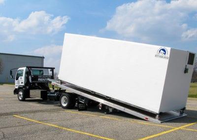 Large freezer storage rental on a truck