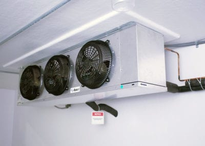 Inside of portable refrigeration unit
