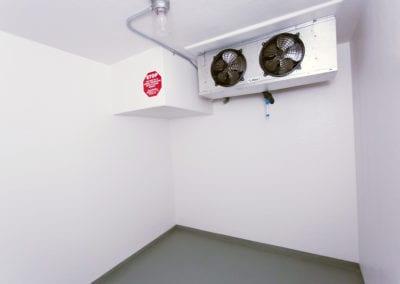 Inside of emergency refrigeration truck rental