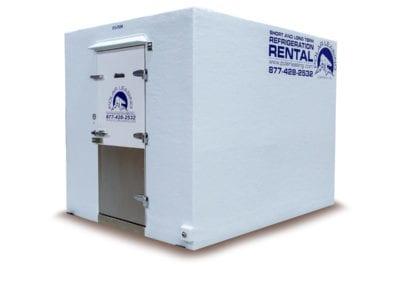 Large white freezer trailer rental