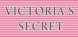 Victoria's Secret logo on pink background